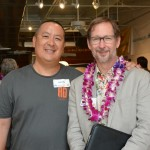 Evan Leong, left, co-founder of AD UP, and A. Kam Napier, editor in chief of Pacific Business News