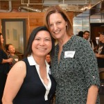 "Kim-Ahn Nguyen, left, president and CEO of Blood Bank Hawaii, and Karin Knudsen, director of recruitment and marketing pose for a photo. Nguyen says, ""it's like a think tank here, we are learning so much about how we can localize and make connections."""
